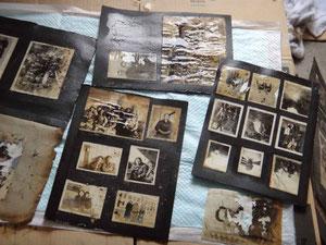 砂や汚れを落とした写真類