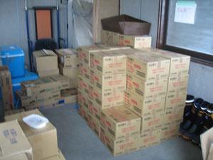 食料の支援物資