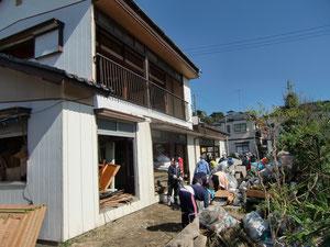 小名浜栄町での作業