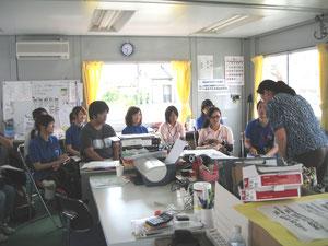 九州看護福祉大学の生徒達