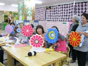 編み物教室での完成作品