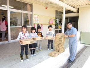 小名浜・泉地区の保育園・幼稚園に物資提供