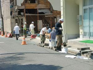 江名北町での側溝掃除