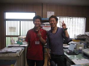 学生ボランティアと理学療法士 加納様