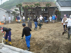 永崎地区での土砂出し