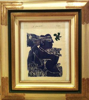 Alecos Fassianos  lithographie.Galerie côte d'Azur, Biot