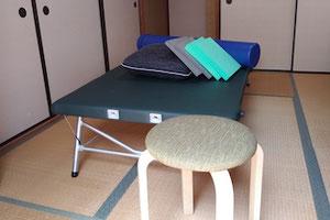 画像:自宅レッスンルーム FI(個人レッスン)用ベッド