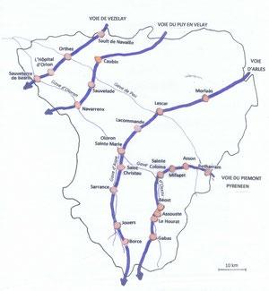 Passage des chemins dans le Béarn