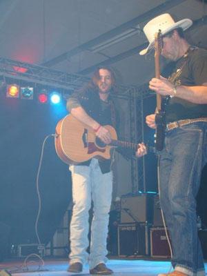 Dan with Cody Jinks in Berlin 2009
