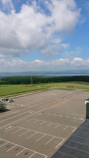 工場の上から見える景色は最高です