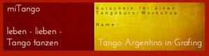 Tangogutschein