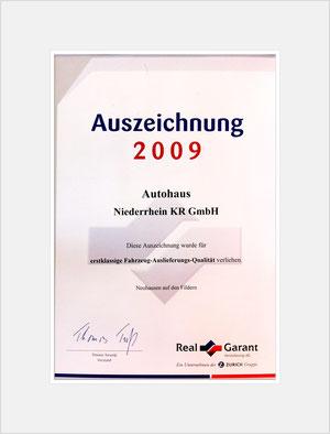 Auszeichnung von RealGarant 2009