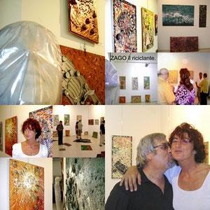 Immagini della vernice 06/09/2008-Zago and art director Paola Bernabini