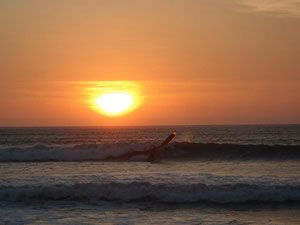 sunset in zarate