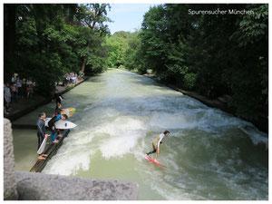 Eisbach Surfen München Englischer Garten