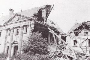 Palais de justice après un bombardement