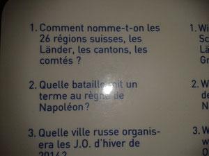 Questions trilingues/ carte jaune/ L'Europe et le Monde