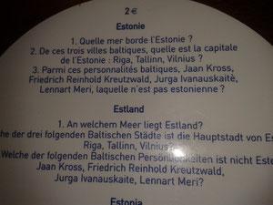 Questions Estonie/ Pièces