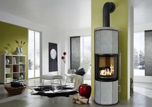 wassergeführter Ofen mit Specksteinverkleidung- Koppe Nexus Aqua