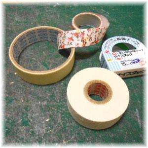 カルトナージュの道具・材料_テープ類 ©Atelier Z=Grace