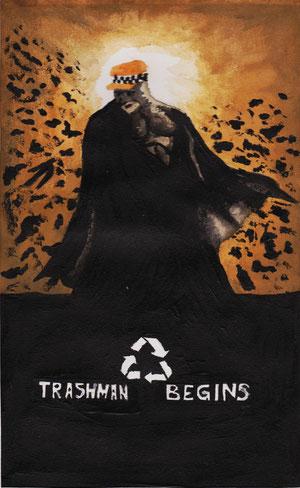 Erster graphischer Entwurf zu Trashman Begins von Maya Grünschloß