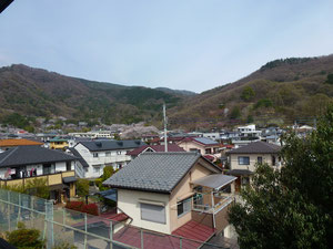 Der erste April Nachmittags um 2 in Kofu.