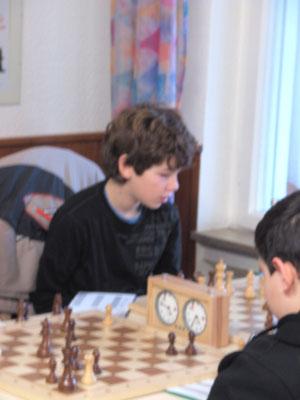 Jakob spielt sein erstes Turnier ausserhalb des Lahrer Schachklubs