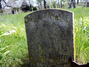 Civil War veteran Flavius J. Sypherd rests in the Walker Cemetery among five other veterans of the Civil War.