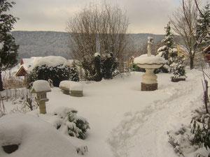 Winteridylle im Garten