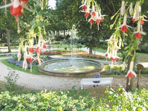 Kurgarten in Bad Bocklet mit einzigartiger Pflanzenvielfalt.