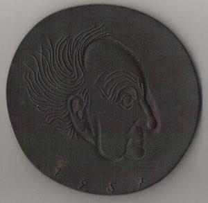 "Ludwig Gies (1887-1966, ""entarteter"" Künstler) Hauptmann-Medaille 1957"