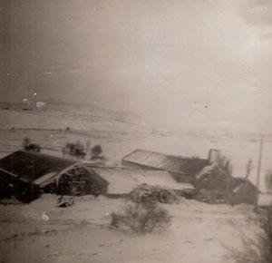 La même sous la neige vue depuis l'aire de battage (de l'autre côté)