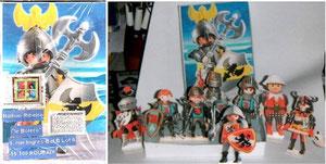 Nathan qui aime les chevaliers Playmobil...
