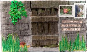 mur de jardin avec porte... pour les Journandises...