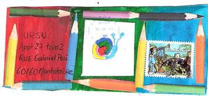 N°106 Nathan Ribeiro 11 ans...son premier Mailart...