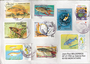 timbres poissons...
