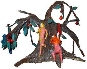 Adam & Eve et le tentateur, sous le pommier...