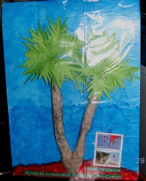 palmiers sur une île...