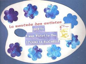 les couleurs de la mer pour une sirène échouée à La Rochelle...