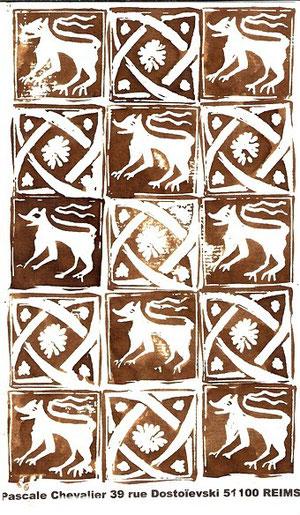 carrelage du XIVème siècle...