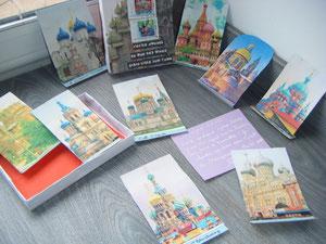 des photos d'églises russes pour son appel sur la Russie...