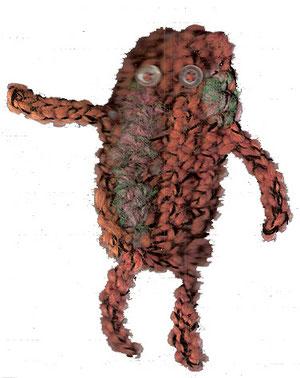 personnage de laine fait au crochet...