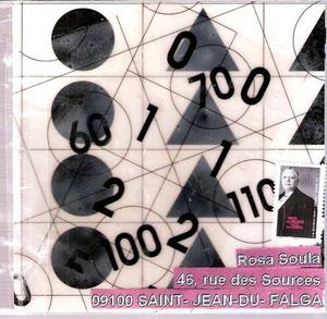 motifs noirs sur plastique souple transparent trois couches...sous cellophane