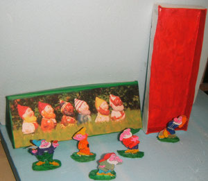 Pour Barbara... et son thème des Nains de jardin...