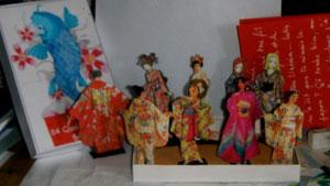 des kimonos japonais pour Marie Fénianos, qui m'a envoyé un Fil à Linge génial (hors forum)...