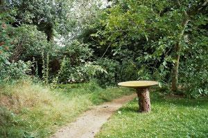 Klanggarten mit Klangschale
