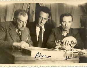 Henry Burel avec Roger Besus écrivain Rouennais