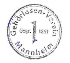Vereinsstempel von 1945 bis 1980.