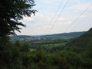 Blick von Eibenhardtpfad in das Ohmtal