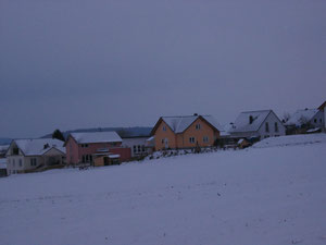 Neubaugebiet im Winter
